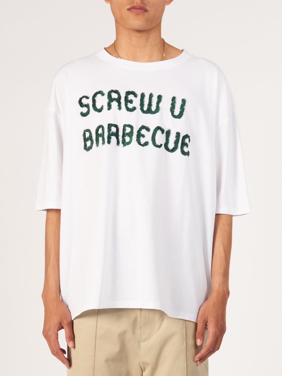 Henrik-Vibskov-White-Screw-U-Barbecue-Big-Tee