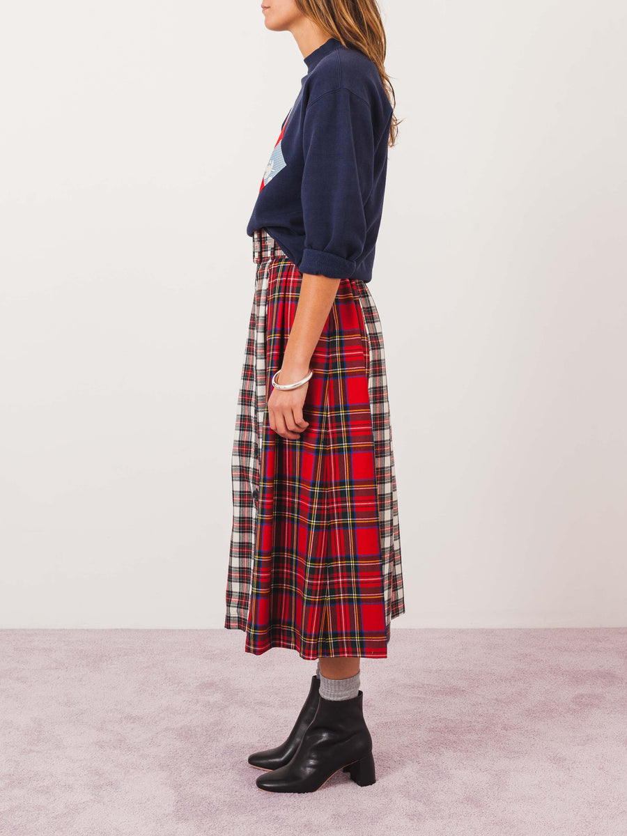 isa-arfen-patchwork-button-down-skirt-on-body