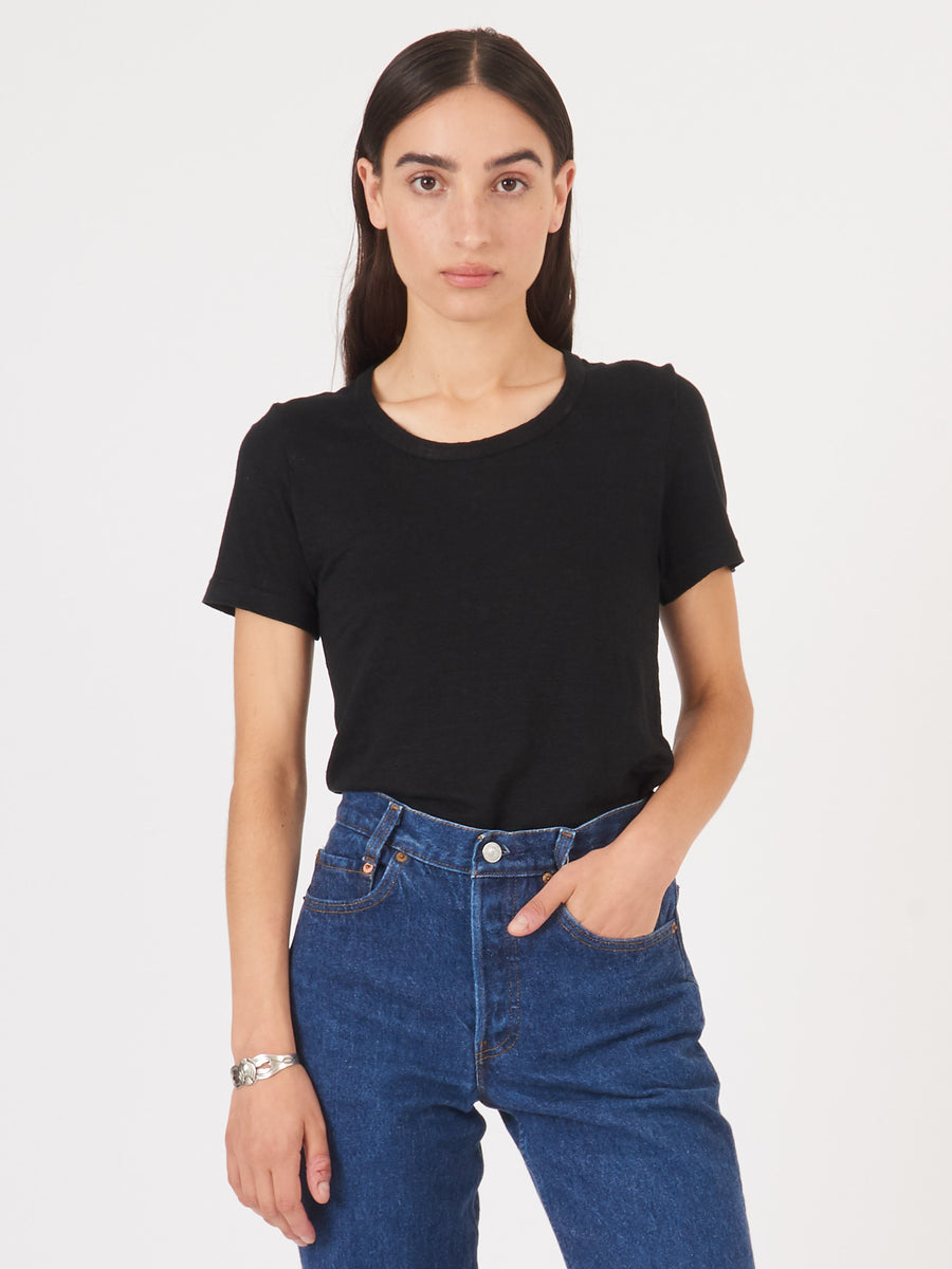 Isabel-Marant-Etoile-Black-Kiliann-T-Shirt-on-body