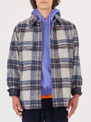 Isabel-Marant-Homme-Ecru/Blue-Gervon-Jacket-on-body