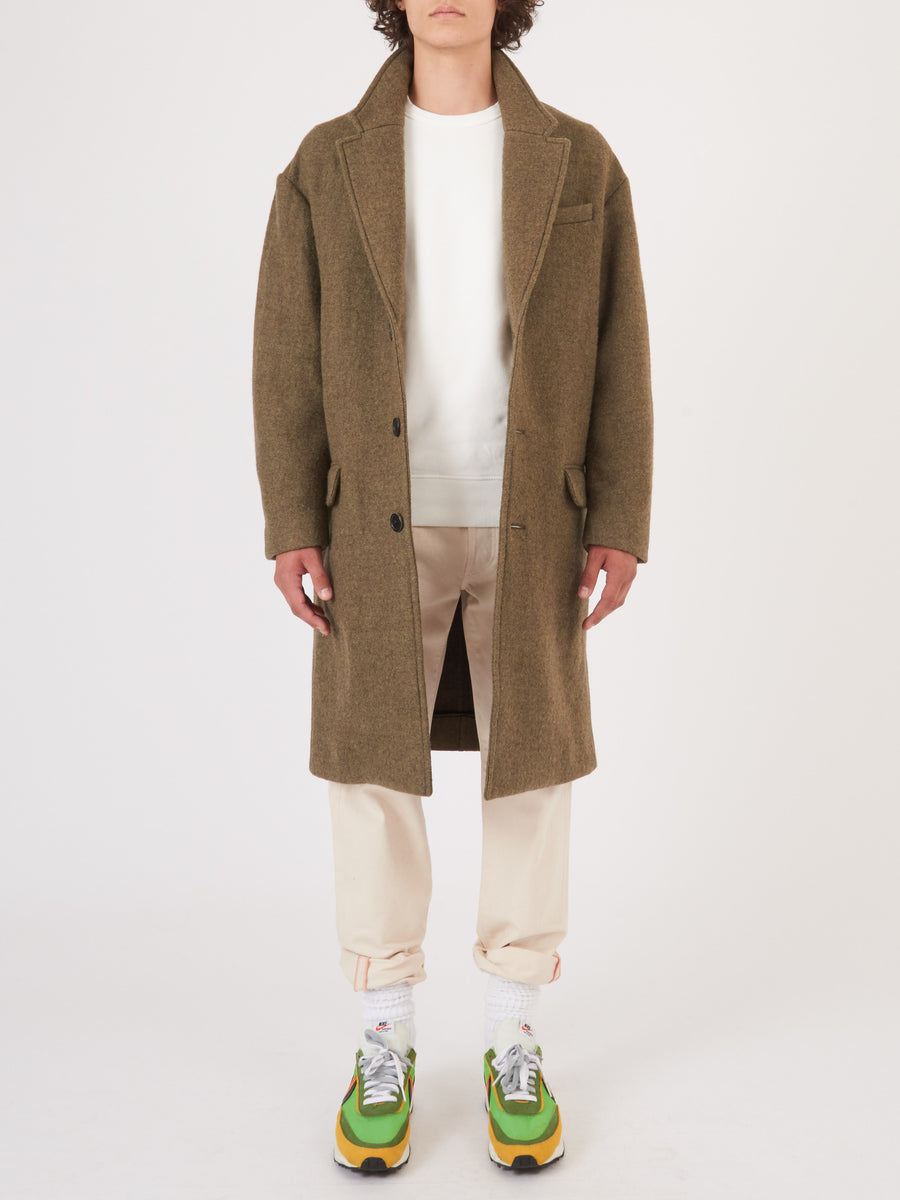 Isabel-Marant-Homme-Khaki-Stanton-Coat-on-body