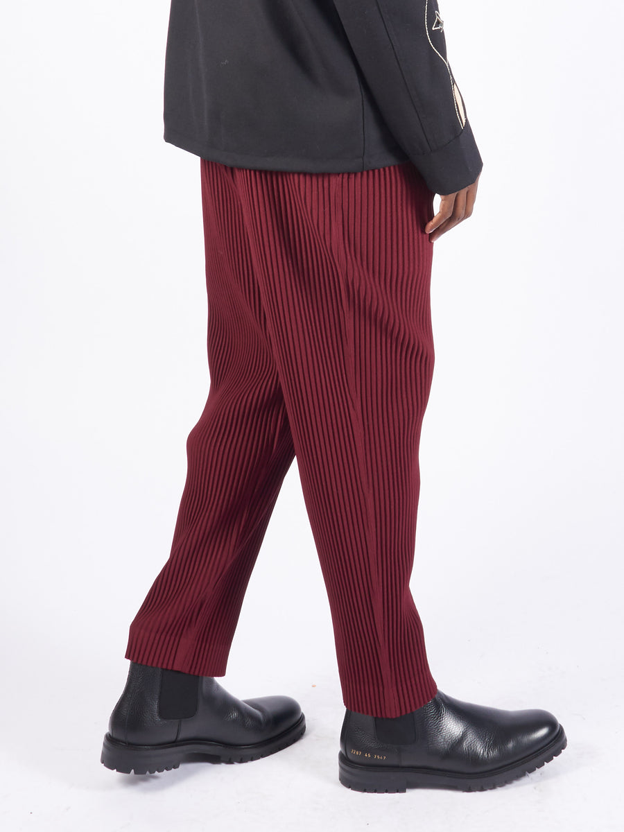 Burgundy Tailored Pleats2 Pants