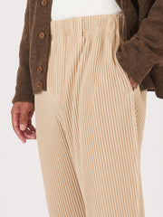 Issey-Miyake-HOMME-PLISSÉ-Ginger-Beige-Tapered-Pants