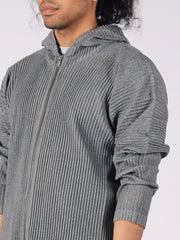 Issey-Miyake-HOMME-PLISSÉ-Heather-Grey-Hoodie-on-body