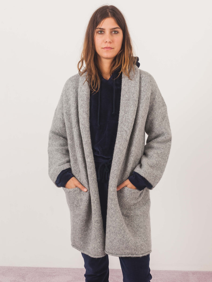 lauren-manoogian-felt-short-shawl-cardigan-on-body