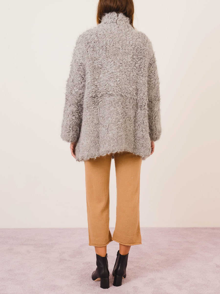 lauren-manoogian-grey-combo-carpet-stitch-cardigan-on-body