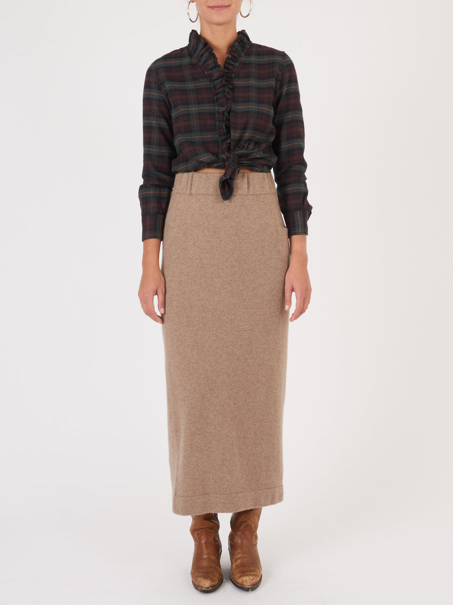 lauren-manoogian-natural-brown-cashmere-tube-skirt-on-body