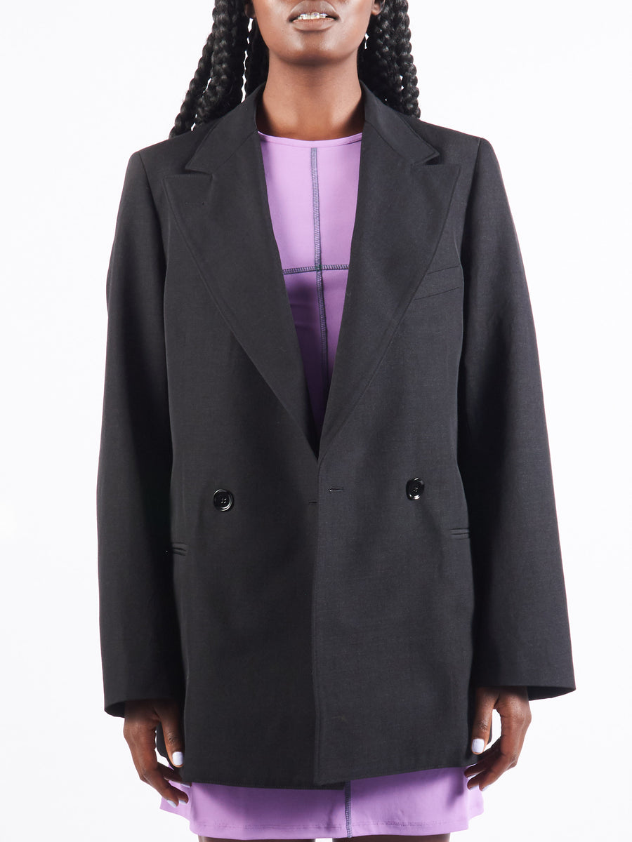 Anthracite Peack Lapel Jacket