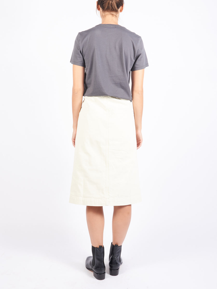 Bone White Straight Skirt
