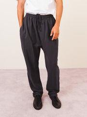 Lemaire-Coal-Elasticated-Jersey-Pants-on-body