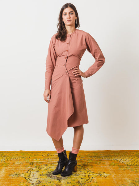 lemaire-dusty-pink-shirt-dress-on-body