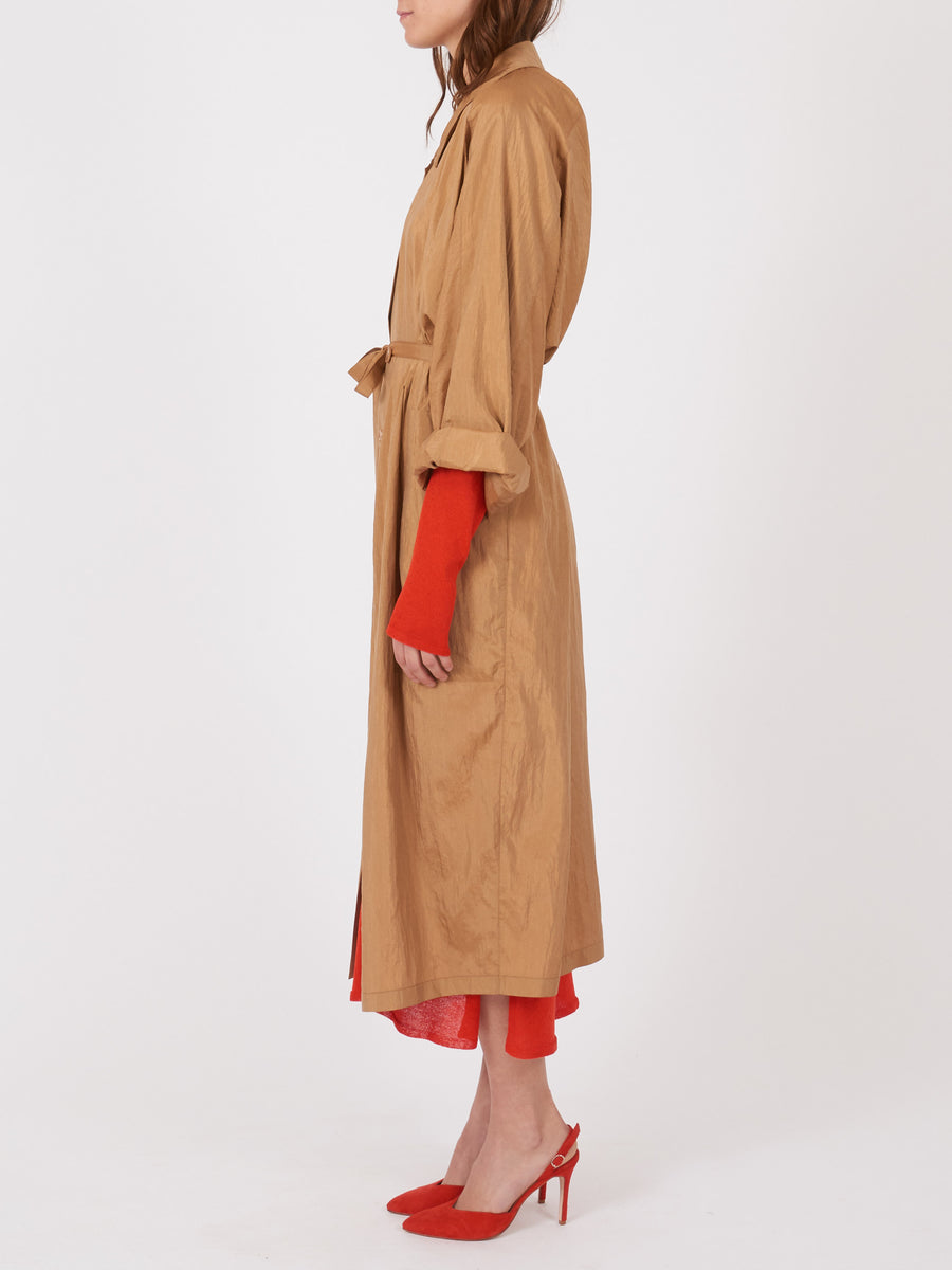 lemaire-Fawn-Brown-Light-Dress-Coat-on-body