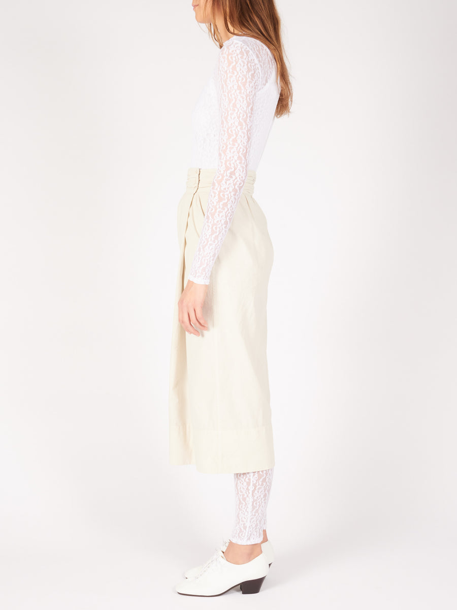Lemaire-Kraft-Grey-Cocoon-Skirt-on-body