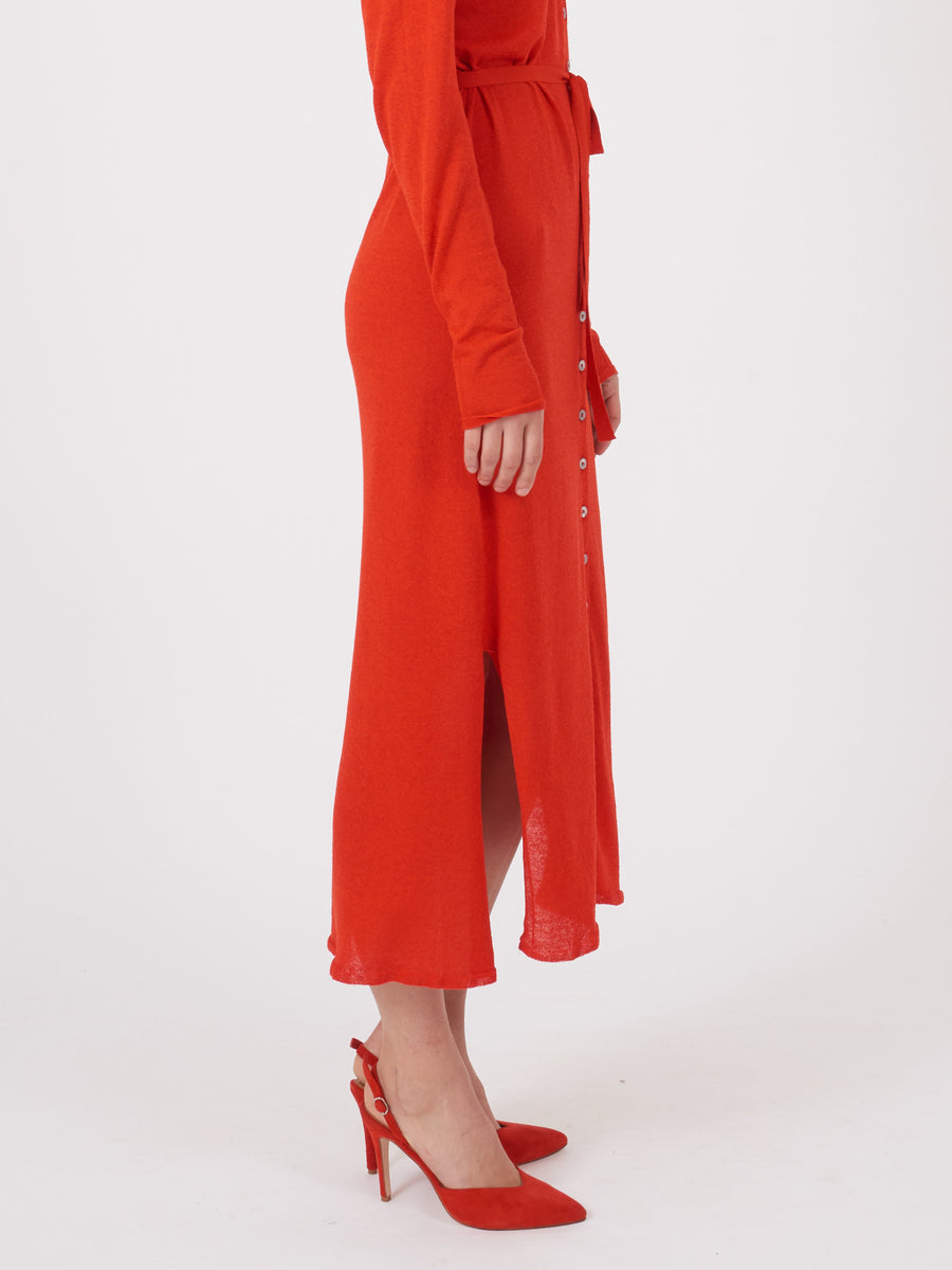 lemaire-Red-Cardigan-Dress-on-body