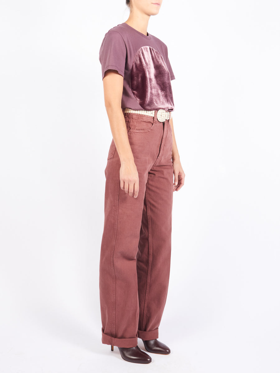 Russet Brown Denim Pants