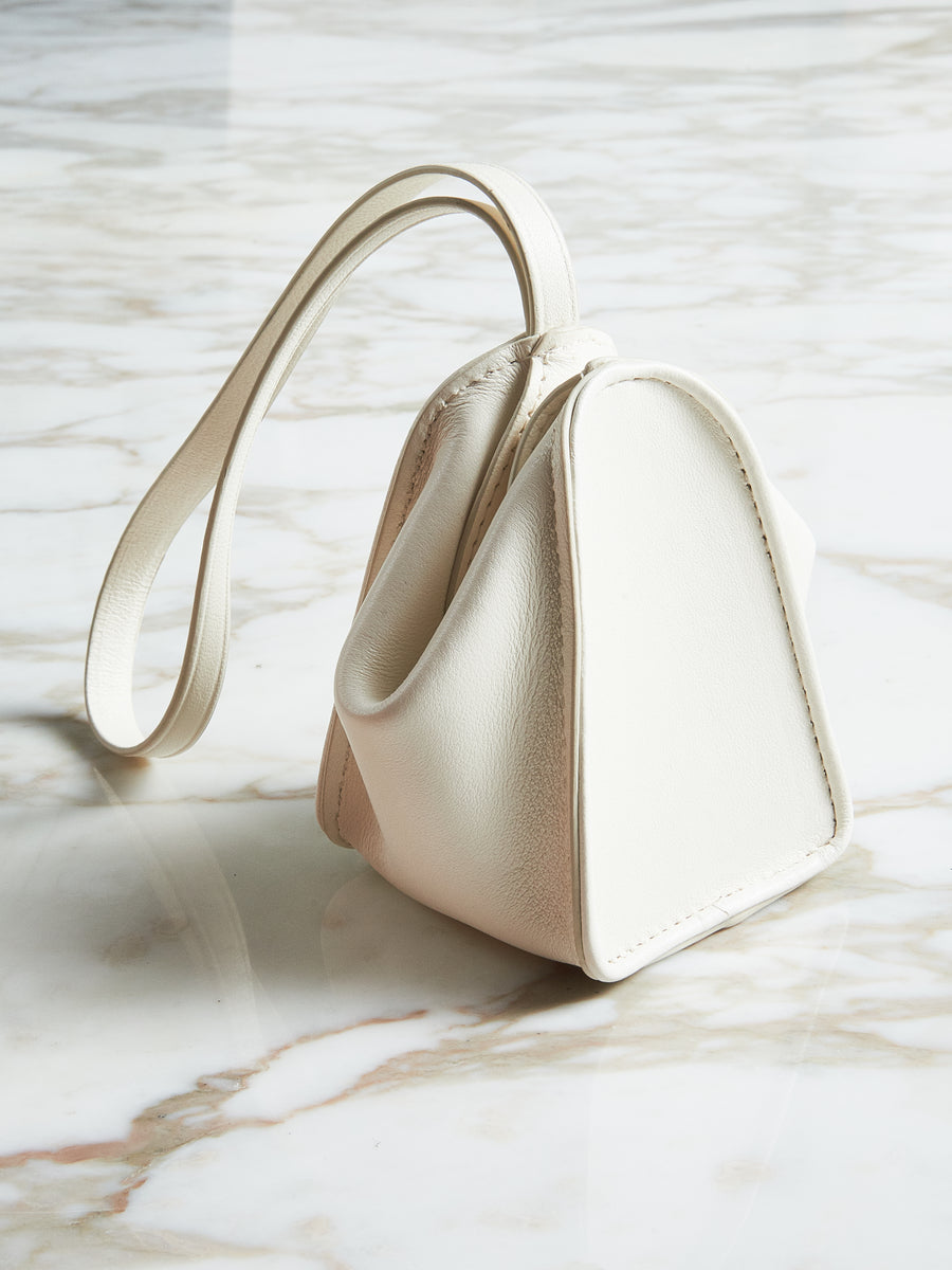 White Folded Coin Purse