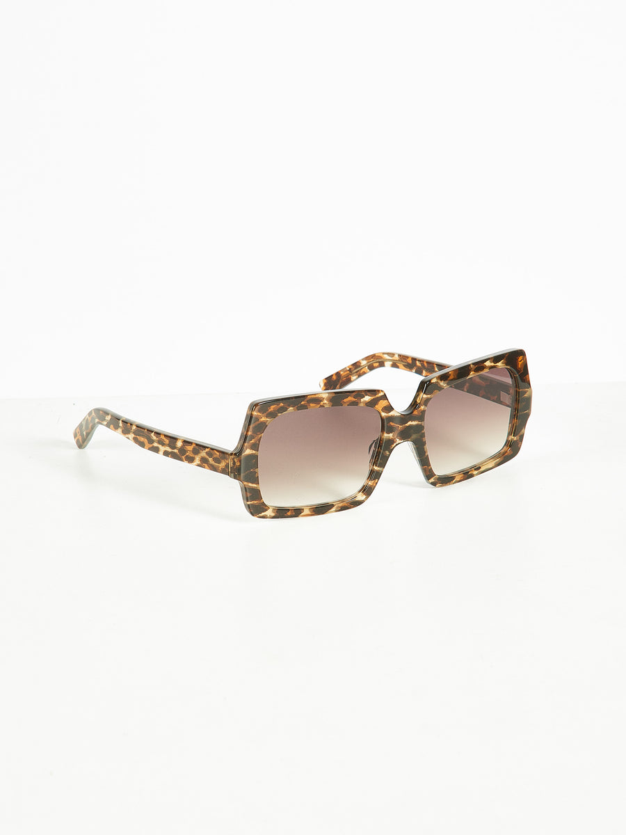 Leopard/Brown Large George Sunglasses