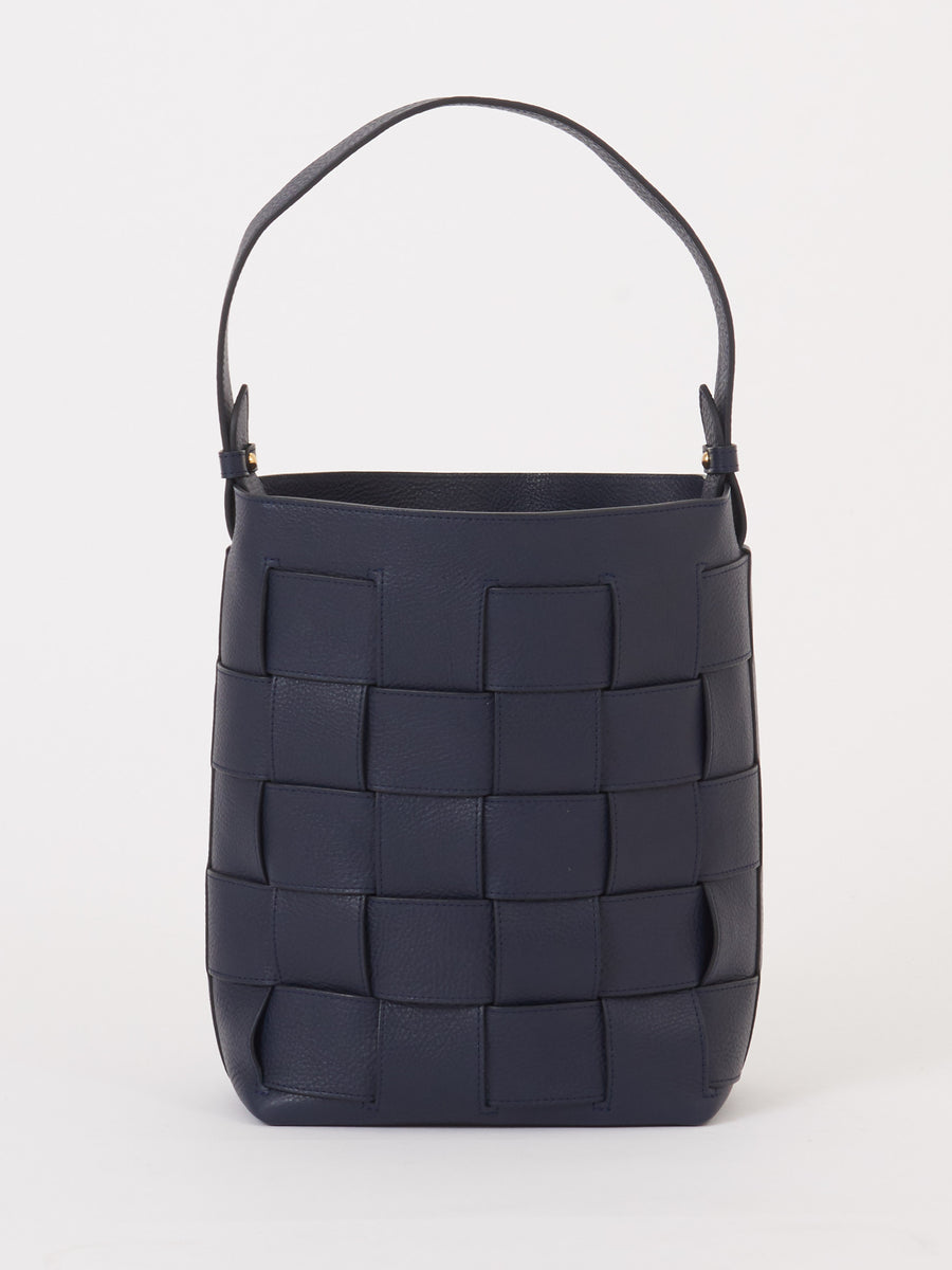 Lotuff-Indigo-Woven-Bucket-Shoulder-Bag