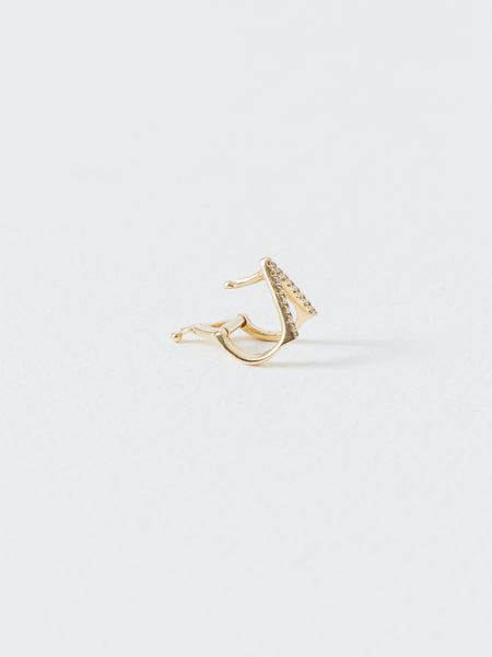 Wendy Nichol - Gold Triange Ear Cuff White Diamond