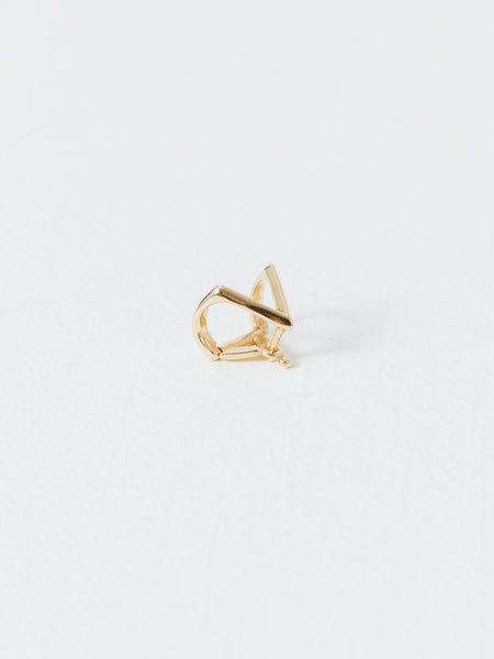 Gold Knife Edge Triangle Ear Cuff