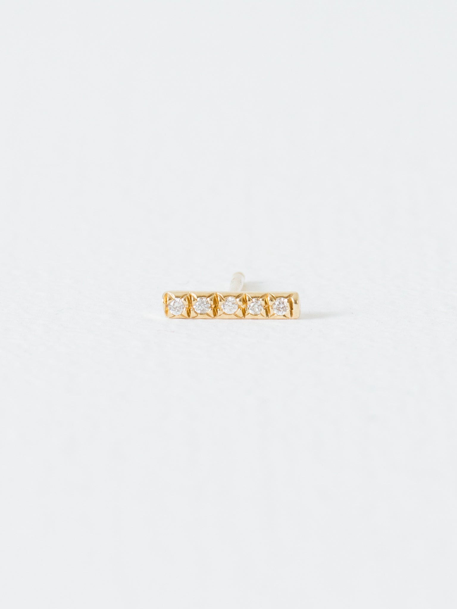 minimalist modern oro vrai post stud solid earrings gold products yellow and line studs