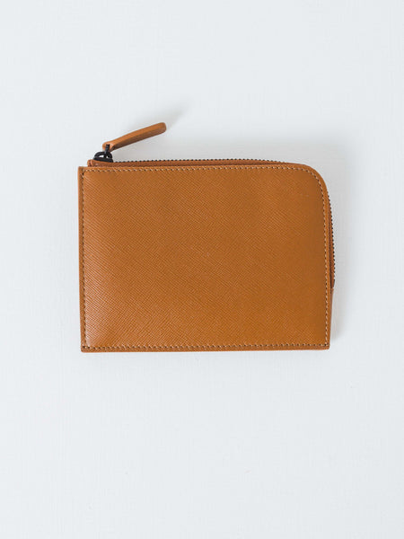 Brown Half-Zip Wallet