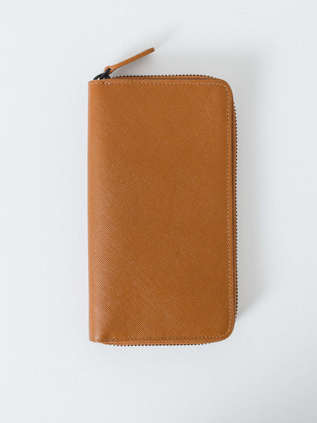 Brown Large Zipper Wallet
