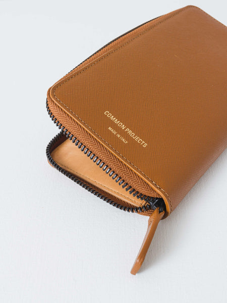Common Projects - Brown Large Zipper Wallet