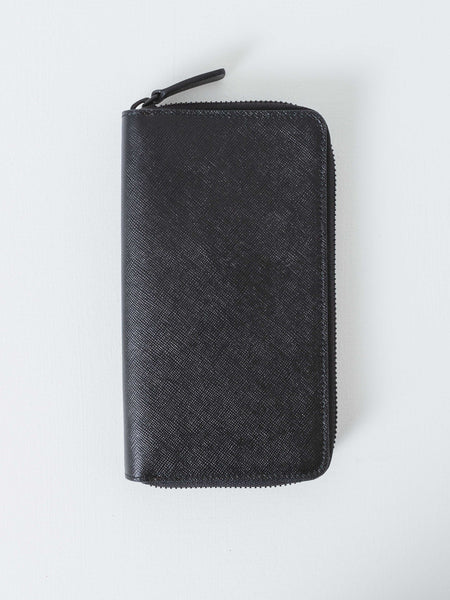 Black Large Zipper Wallet