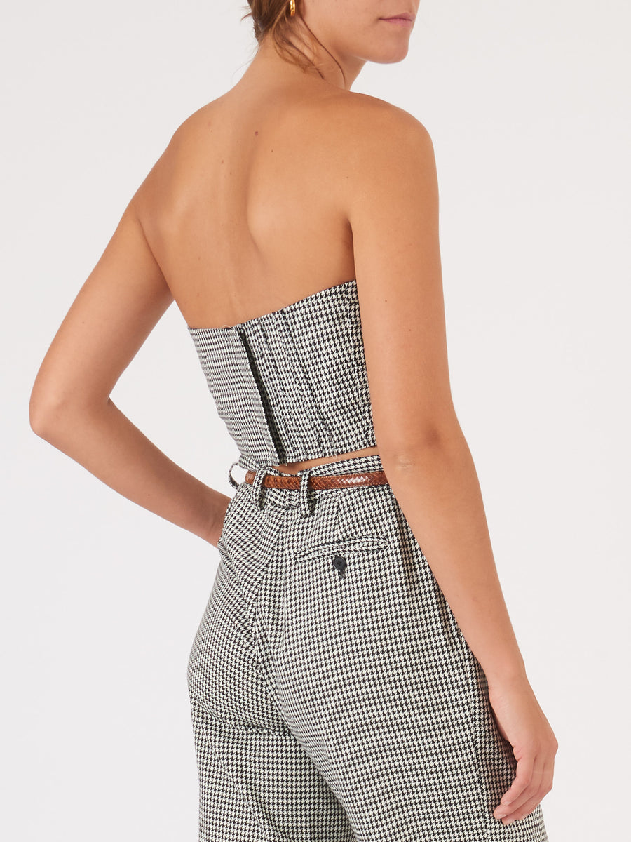 Maryam-Nassir-Zadeh-Black-Houndstooth-Ruby-Bustier-on-body