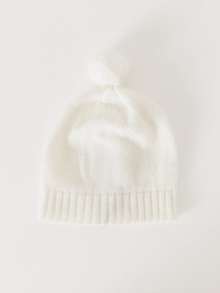 makie-ivory-cashmere-pompon-hat-kids
