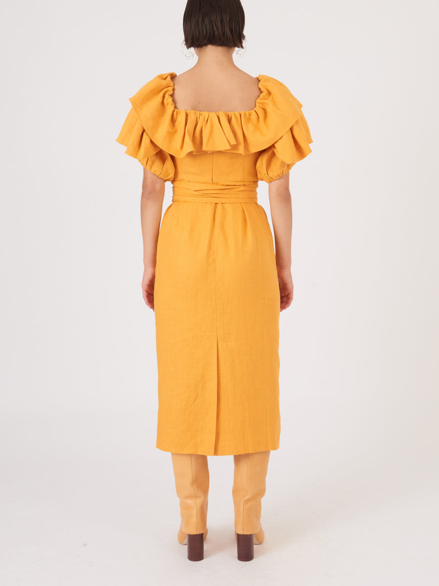mara-hoffman-yellow-arabella-dress-on-body