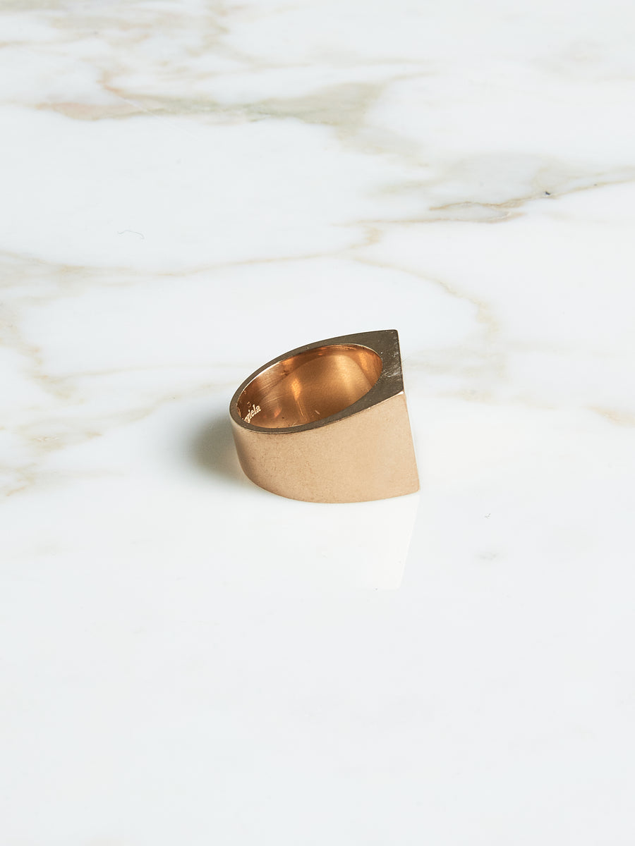 4-Stitches Gold Ring