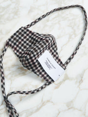 Dogtooth Check Face Mask