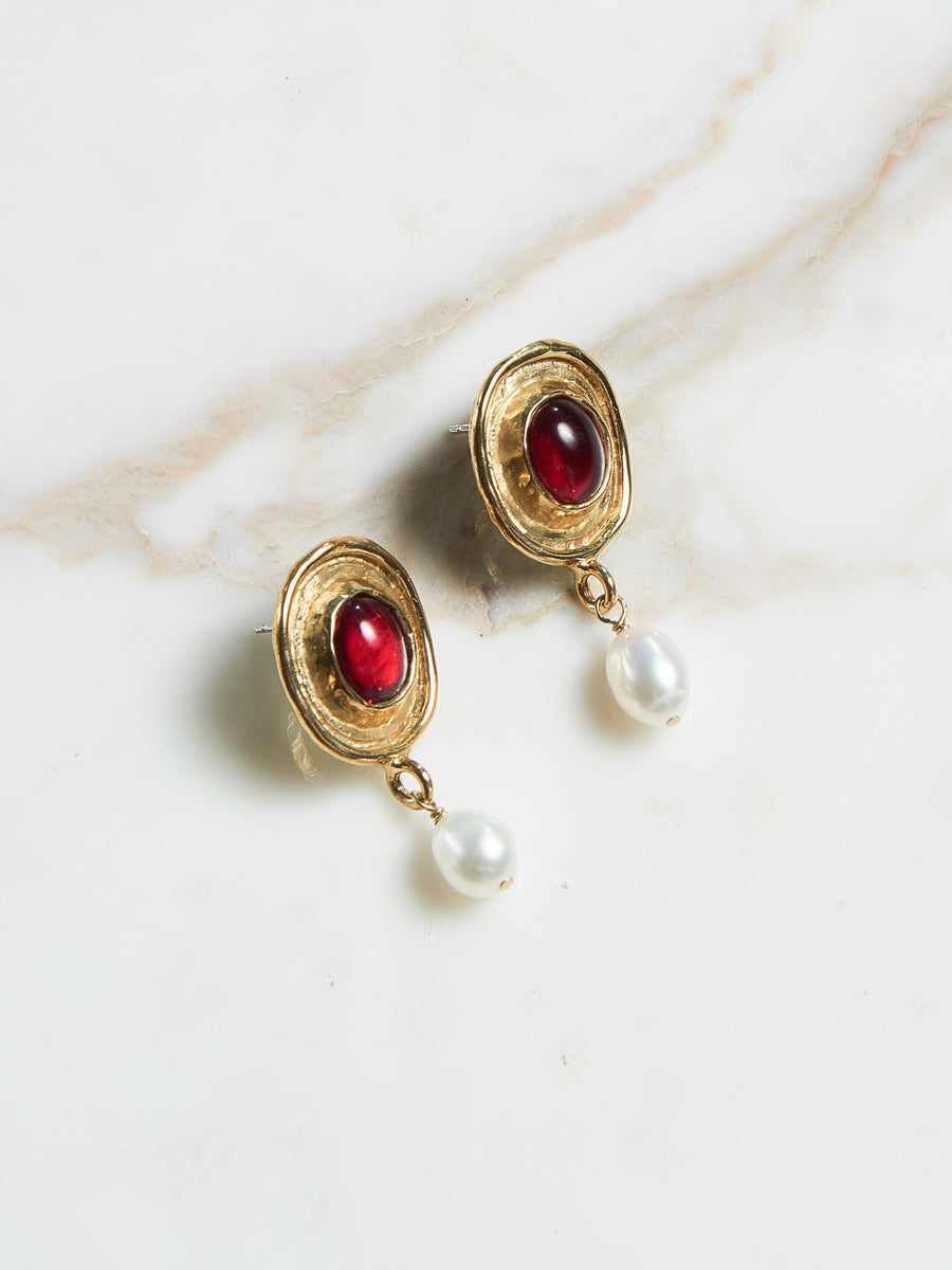 Red Viva Earrings