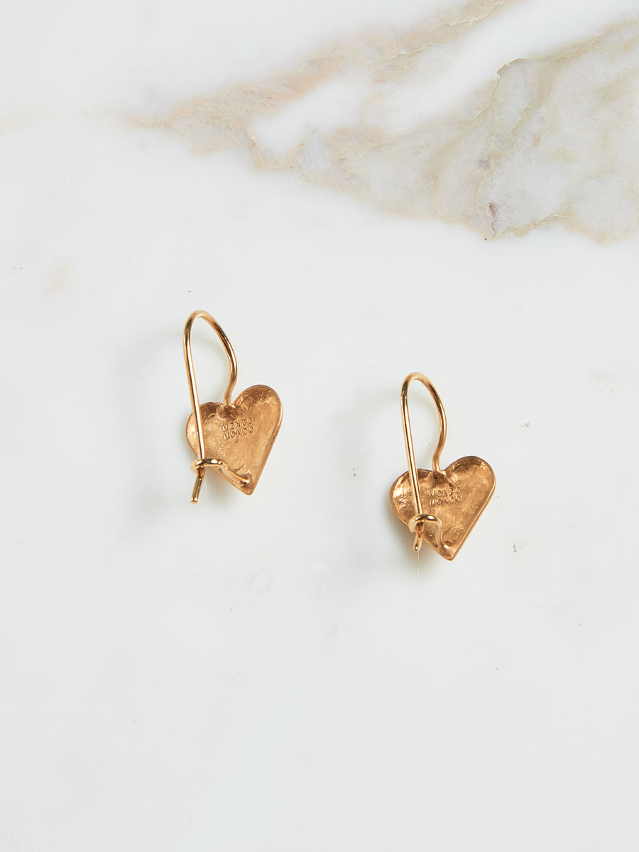 Gold Sweetheart Earrings