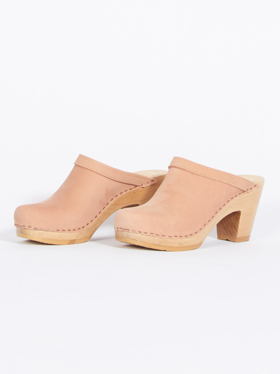 No. 6-Pink-Sand-Old-School-Clog-Heel