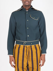 Emerald Piping Leisure Shirt