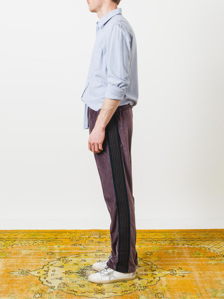 needles-maroon-narrow-track-pants-on-body
