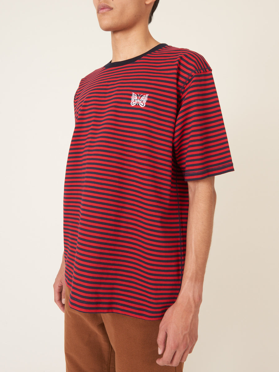needles-Red-S/S-Embroidered-Tee-on-body