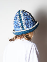 Blue/Indigo Hand Crochet Bucket Hat