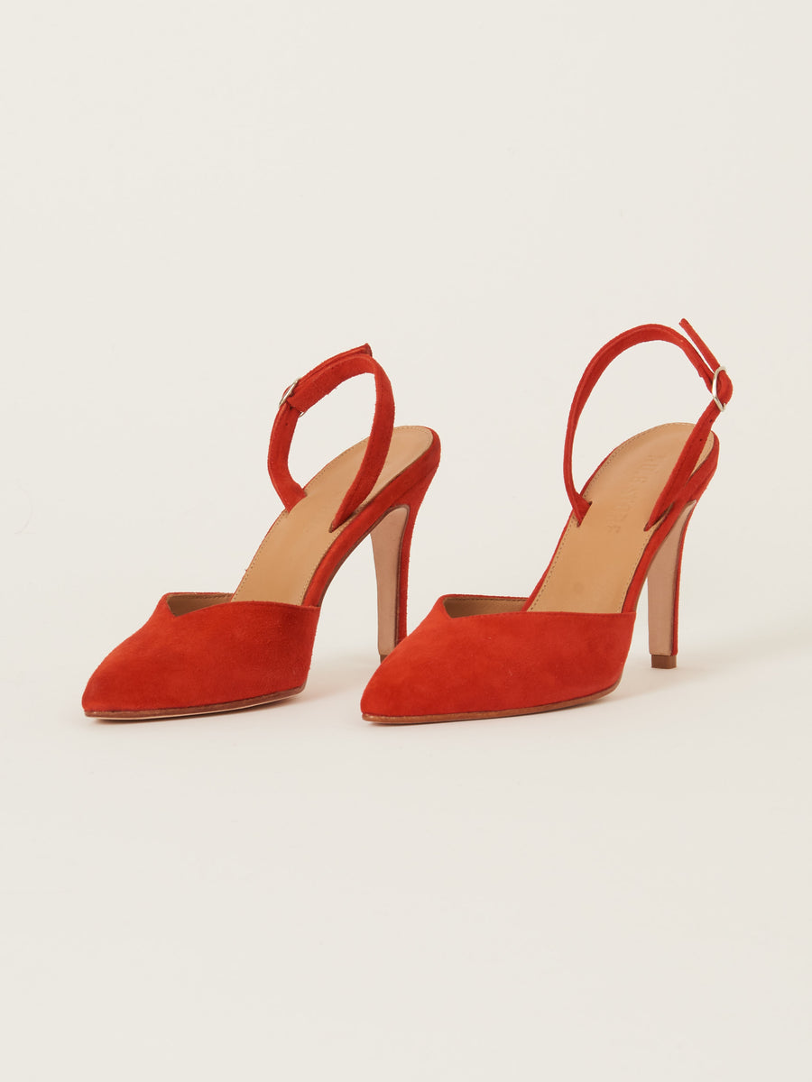 No.6-Flame Suede-Monika-High-Heel