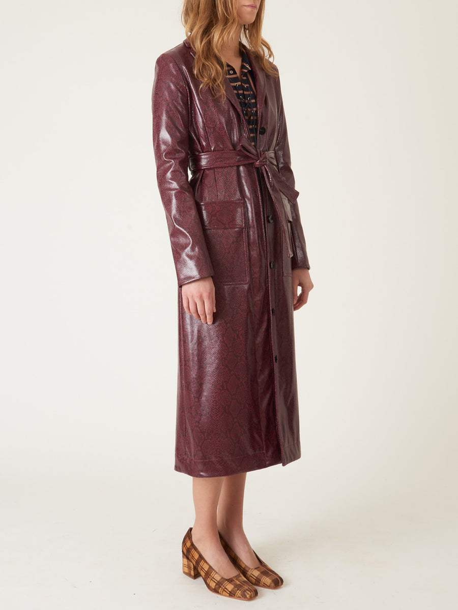 nomia-Burgundy-Belted-Trench-Coat-on-body