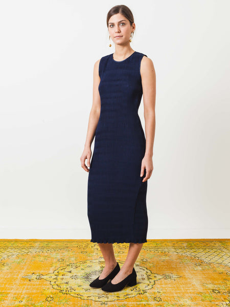 nomia-midnight-pleated-shift-dress-on-body