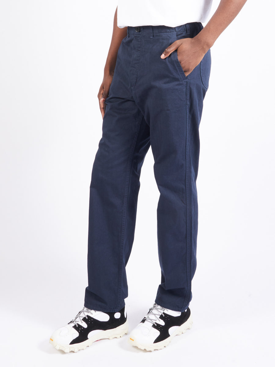 Navy French Work Pants