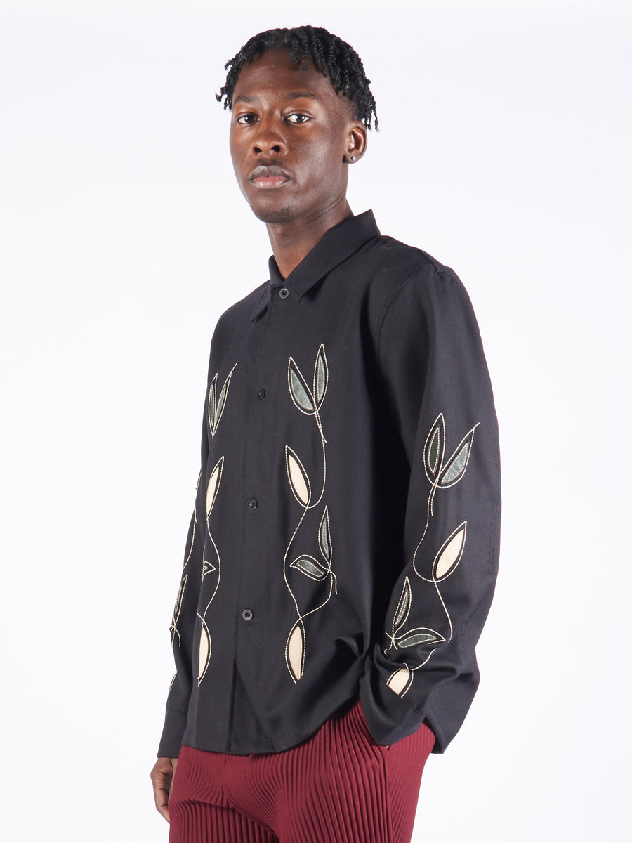 Black Leaf Box Shirt