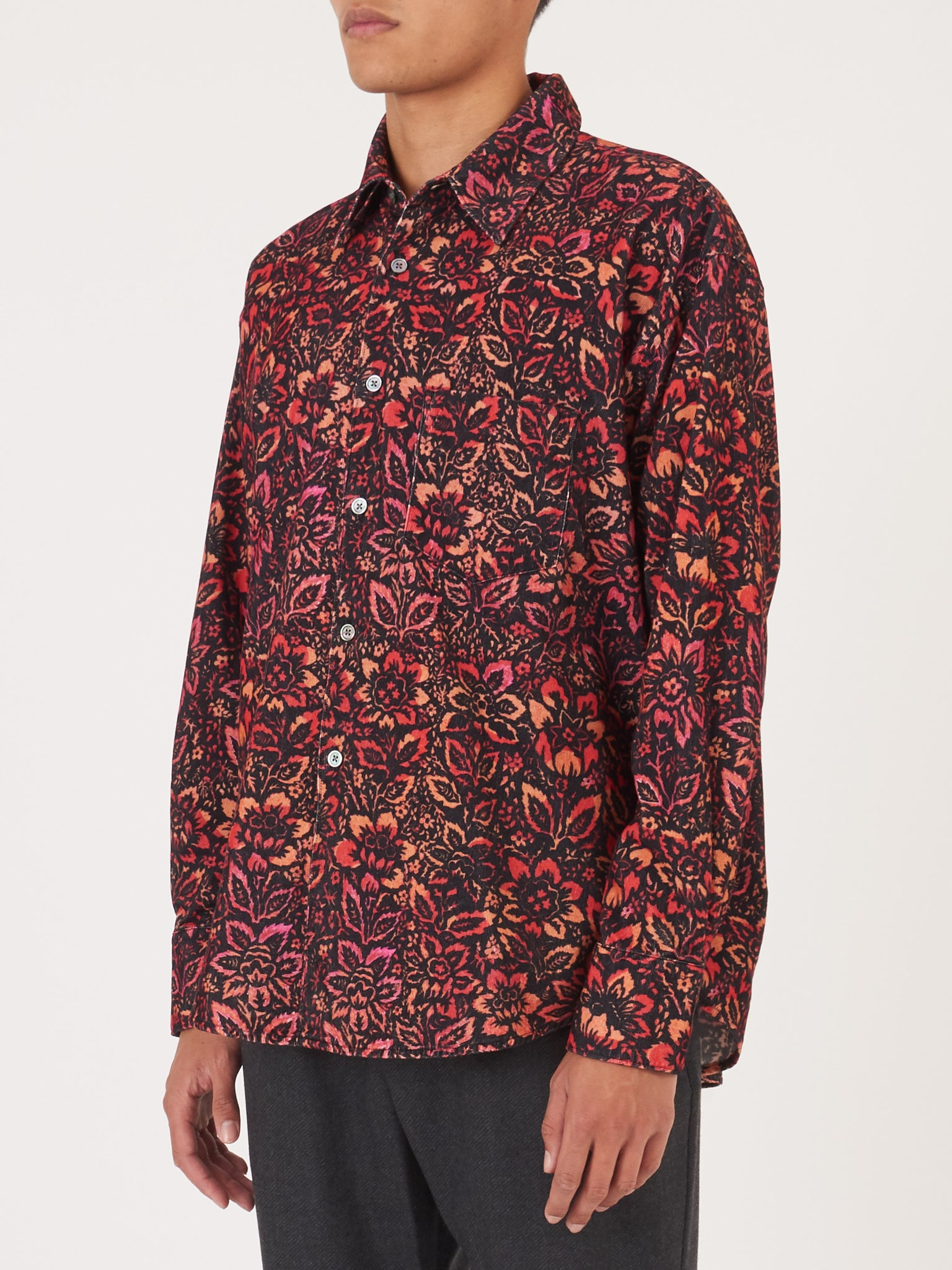 Our Legacy Floral Wallpaper Coco 70 S Shirt Frances May