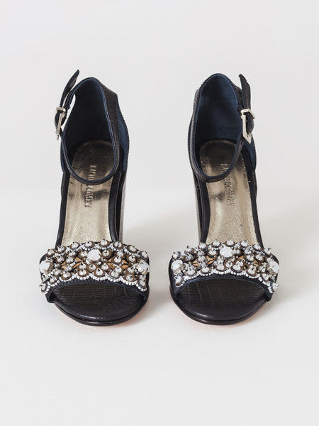 Beaded Coppa Heel