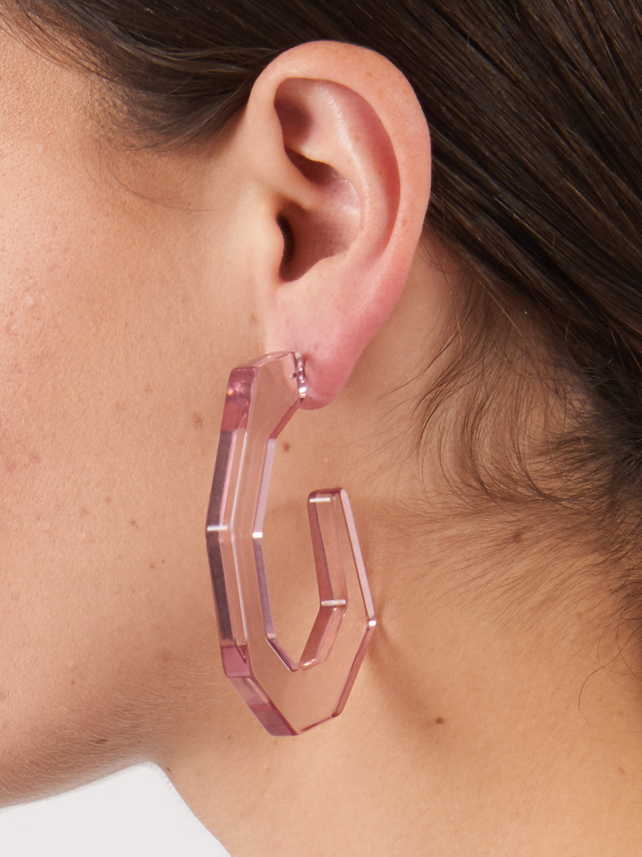 Clear Lilac Factor Earrings