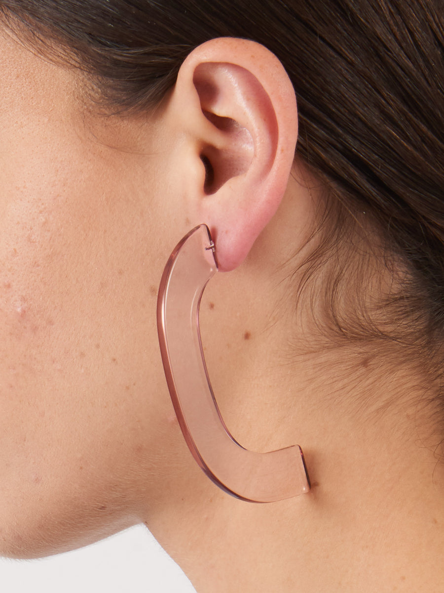 Rachel-Comey-Clear-Pink-Handle-Earrings